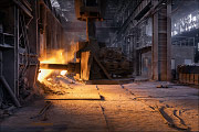 Donetsk, metallurgical ,plant, siemens-martin ofen, open hearth furnace